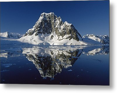 Reflections With Ice Metal Print by Antarctica
