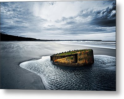 Reighton Sands Coast Metal Print by Svetlana Sewell