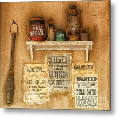 Relics Of The Old West Metal Print by Sandra Bronstein