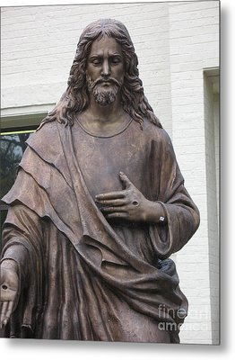 Religious Jesus Statue - Christian Art Metal Print by Kathy Fornal