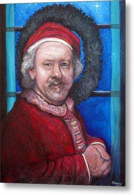 Rembrandt Santa Metal Print by Tom Roderick