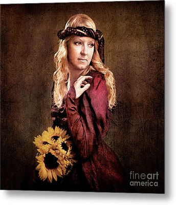 Renaissance Portrait Metal Print by Cindy Singleton