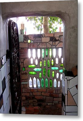 Restroom Entrance Metal Print by Peter Mooyman