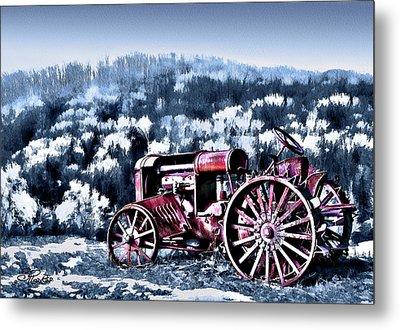 Retired Tractor Metal Print by Suni Roveto