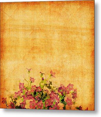 Retro Flower Pattern Metal Print by Setsiri Silapasuwanchai