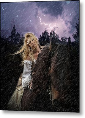 Return To Camelot Metal Print by Sally Carpenter