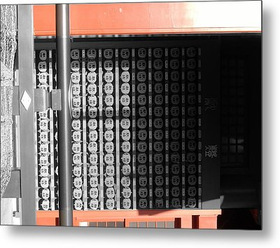 Rice Storage Metal Print by Naxart Studio