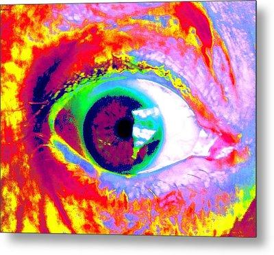 Rico's Eye Metal Print by Renate Nadi Wesley