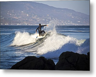 Riding The Waves Metal Print by Molly Heng