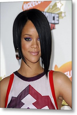 Rihanna At Arrivals For 2007 Metal Print by Everett