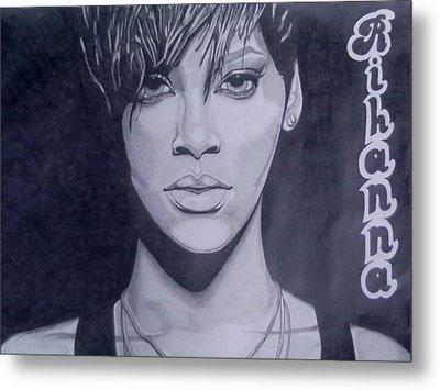 Rihanna Metal Print by Lakeesha Mitchell