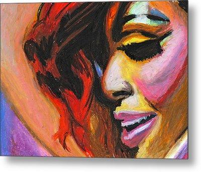 Rihanna Smile Metal Print by Siobhan Bevans