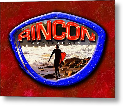 Rincon Logo Metal Print by Ron Regalado