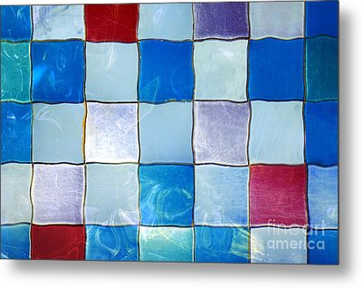 Ripple Tiles Metal Print by Carlos Caetano