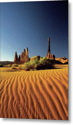 Ripples In The Sand, Monument Valley Tribal Park, Arizona, Usa Metal Print by Medioimages/Photodisc