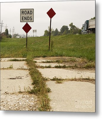 Road Ends Sign Metal Print by Will & Deni McIntyre
