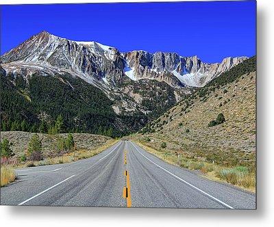 Road Marking On Road Metal Print by David Toussaint - Photographersnature.com