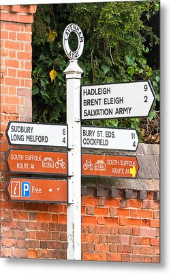 Road Signs Metal Print by Tom Gowanlock