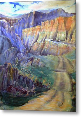 Road To Rainbow Gulch Metal Print by Gertrude Palmer