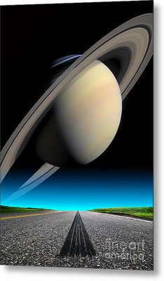 Road To Saturn Metal Print by Larry Landolfi and Photo Researchers