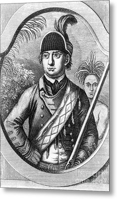 Robert Rogers, Colonial American Metal Print by Photo Researchers