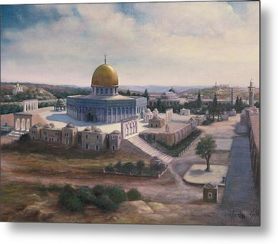 Rock Dome - Jerusalem Metal Print by Laila Awad Jamaleldin