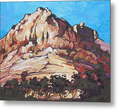 Rock Face 2 Metal Print by Sandy Tracey