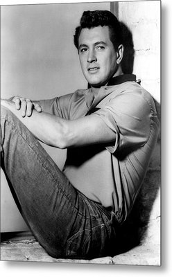 Rock Hudson, C. Mid 1950s Metal Print by Everett