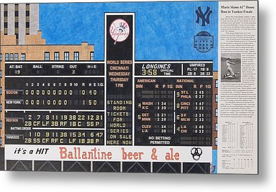 Roger Maris Hits Number 61 In 1961 Metal Print by Marc Yench
