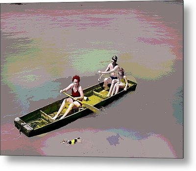 Rolling On The River Metal Print by Charles Shoup
