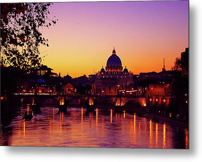 Roman Sunset Metal Print by Karl Borg