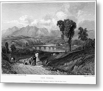 Rome: Milvian Bridge, 1833 Metal Print by Granger