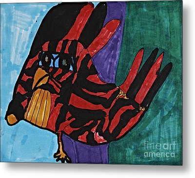Roodster Phase I Metal Print by Stephanie Ward