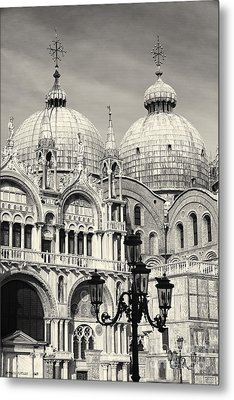 Roof And Facade Of St Mark Basilica  Metal Print by George Oze