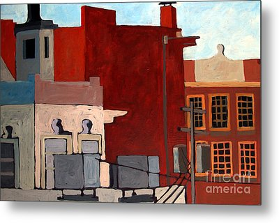 Rooftops Metal Print by Charlie Spear