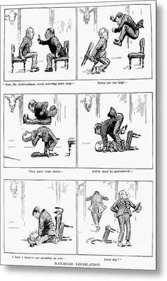 Roosevelt Cartoon, 1905 Metal Print by Granger