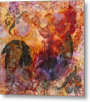 Rooster 1 Metal Print by Rosie Phillips