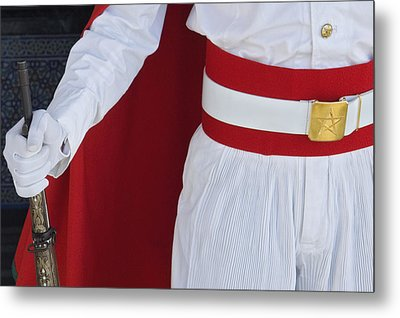 Royal Guard At Mohammed V Mausoleum Metal Print by Axiom Photographic