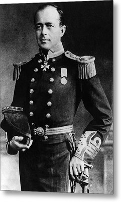 Royal Navy Officer And Antarctic Metal Print by Everett