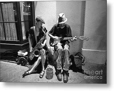 Royal Street Music Metal Print by Leslie Leda