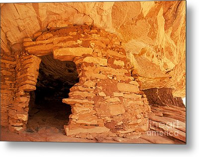 Ruins Structure Metal Print by Bob and Nancy Kendrick
