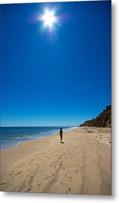 Run On The Beach Metal Print by Mike Horvath