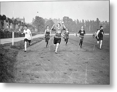 Running Track Race Metal Print by Topical Press Agency