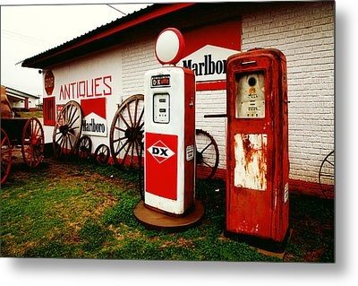 Rural Roadside Antiques Metal Print by Toni Hopper