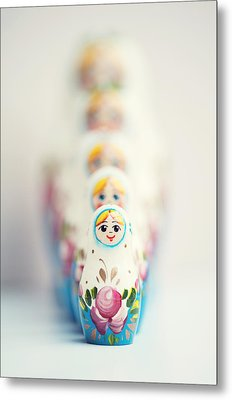 Russian Dolls Metal Print by Images by Christina Kilgour