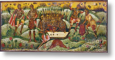 Russian Icon: Dice Players Metal Print by Granger