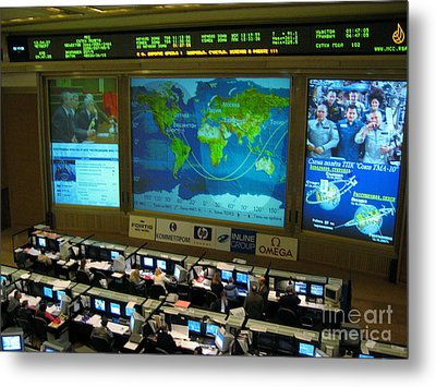 Russian Mission Control Center Metal Print by Nasa