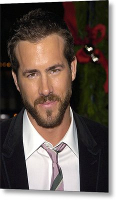 Ryan Reynolds At Arrivals For Just Metal Print by Everett