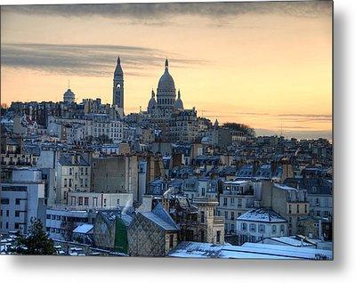 Sacre Coeur, Paris Metal Print by Richard Fairless