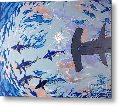Sailfish Splash Park Mural 8 Metal Print by Carey Chen